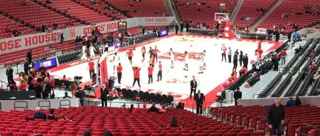 Houston Cougar's Fertitta Center before a home game in December 2018.