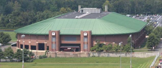 The William D. Mullins Memorial Center from Kennedy Tower in 2013.