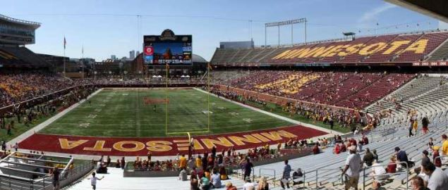 The Minnesota Golden Gophers football team's Spring Game in TCF Bank Stadium.
