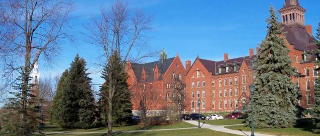 Scene on the campus of the University of Vermont in Burlington, Vermont, USA.