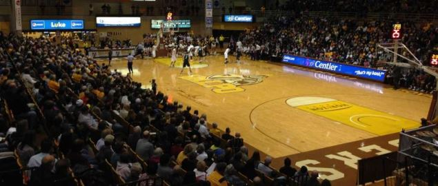 Interior of the Athletics-Recreation Center on the campus of Valparaiso University.