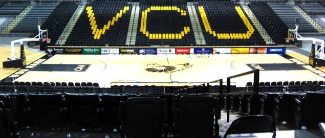 An interior view of the Stuart C. Siegel Center on the VCU campus in Richmond, VA.