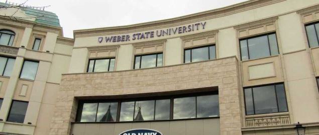 Weber State University and Old Navy location at Station Park in Farmington, Utah.