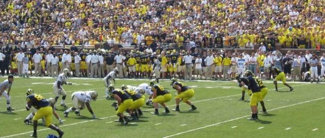 The Western Michigan Broncos vs the Michigan Wolverines.