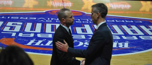 Coach Pat Kelsey and Tim Craft after Wintrhop's Semi Final Win over the Bulldogs.